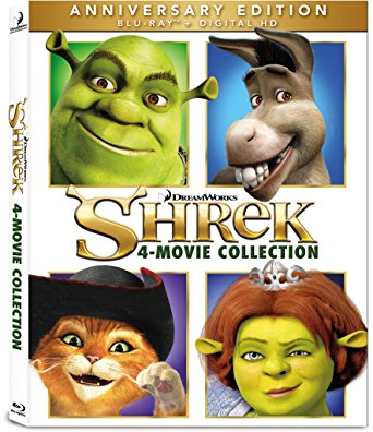 Shrek 4 Movie Collection Anniversary Edition (Blu-ray + Digital HD)